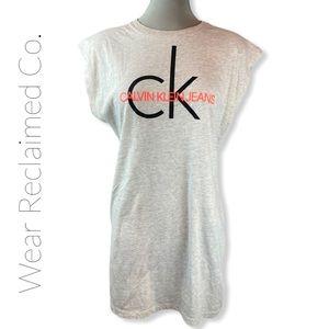 CALVIN KLEIN Monogram T-Shirt Dress / Nightshirt